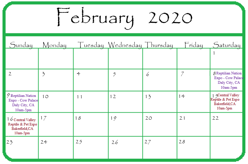 Gypsy Gems & Jewelry February 2020 Events Calendar