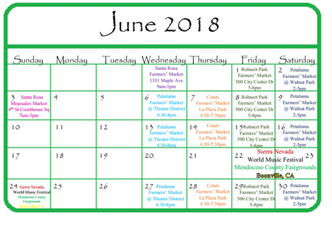 GG&J June 2018 Events Calendar