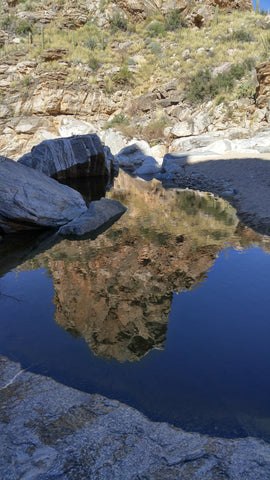 Guardian Rock Reflection: Desert Photography Collection by Heather Brown GGandJ.com