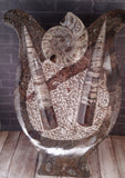 Gypsy Gems & Jewelry™ Naturally Unique™Ammonite & Orthoceras Fossil Statue From Morocco Abstract Art