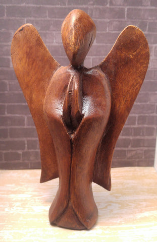 GG&J Naturally Unique™ Indonesian Wooden Angel