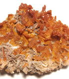 Moroccan Vanadinite on Barite
