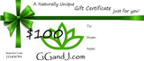 Gypsy Gems & Jewelry™ Naturally Unique™ $100 Gift Certificate GGandJ.com