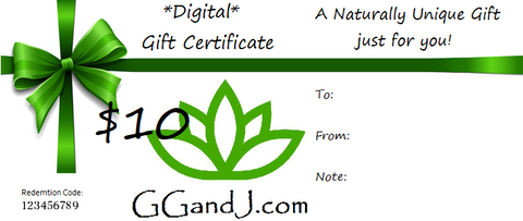 Gypsy Gems & Jewelry™ Naturally Unique™ $10 Digital Gift Certificate GGandJ.com