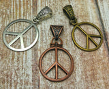 Gypsy Gems & Jewelry™ Naturally Unique™ Peace Sign Pendants