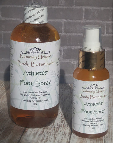 GG&J Naturally Unique™ Athletes' Foot Spray 8oz and 3oz