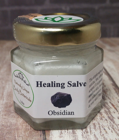 Gypsy Gems & Jewelry™ Naturally Unique Body Botanicals™ 1.8oz Obsidian Organic Healing Salve GGandJ.com