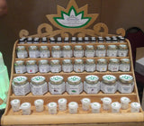 Handcrafted wood retail display for Naturally Unique Body Botanicals by Gypsy Gems & Jewelry