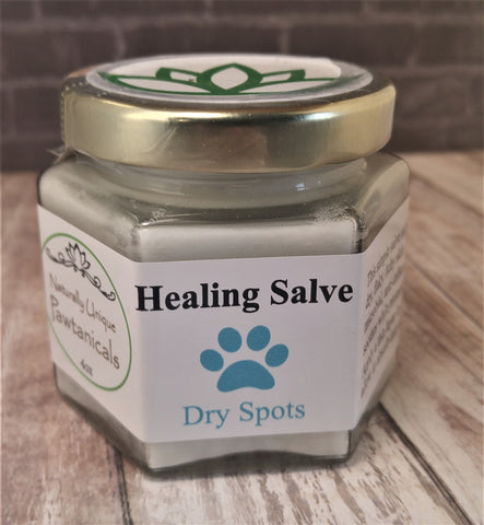 Dry Spot Care 4oz, Gypsy Gems & Jewelry™ Naturally Unique™ Pet Pawtanicals™ Salve, Pet Care, Organic Pet Products, Handmade Pet supplies, pet health, dog care, cat care, rabbit care