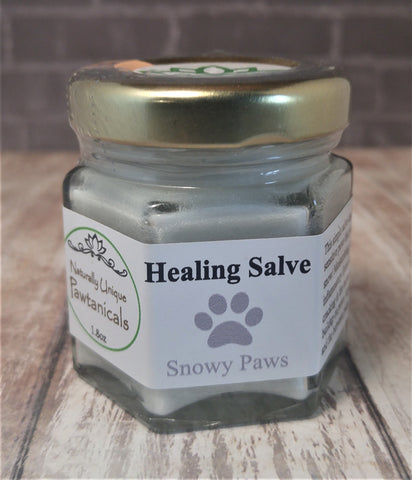 Snowy Paws 1.8oz Gypsy Gems & Jewelry™ Naturally Unique™ Pet Pawtanicals™ Salve, Pet Care, Organic Pet Products, Handmade Pet supplies, pet health, dog care, cat care, rabbit care, GGandJ.com