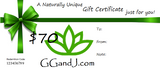 Gypsy Gems & Jewelry™ Naturally Unique™ $70 Gift Certificate GGandJ.com