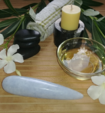 Celestite Wand Spa Towel massage Oil gemstone wand Relax Therapeutic Luxury Flower Healing Candle septarian Gypsy Gems & Jewelry GGandJ.com Naturally Unique