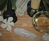 Spa Towel massage Oil gemstone wand Relax Therapeutic Luxury Flower Healing Candle clear quartz