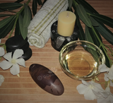 Spa Towel massage Oil gemstone wand Relax Therapeutic Luxury Flower Healing Candle Shiva Lingam