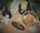 Spa Towel massage Oil gemstone wand Relax Therapeutic Luxury Flower Healing Candle Shiva