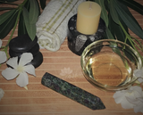 Spa Towel massage Oil gemstone Obelisk Relax Therapeutic Luxury Flower Healing Candle Ruby Zoisite