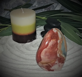 Spa massage Oil gemstone wand Relax Therapeutic Luxury Flower Healing Candle Jasper