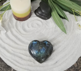 Spa Luxury Relax Reiki Energy Healing Meditation Natural Gemstone Mineral Gypsy Gems & Jewelry GGandJ.com Labradorite Heart Naturally Unique