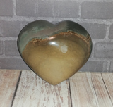 Polychrome Jasper Heart from Madagascar GGandJ.com