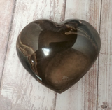 Hand carved polychrome Jasper heart on GGandJ.com Natural Stone