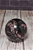 Rhodonite Gemstone Sphere Carved Mineral Gypsy Gems & Jewelry Naturally Unique