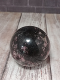 Black and Pink Gemstone Mineral Ball Sphere Natural Gift Rhodonite from Madagascar relax healing reiki