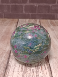 Ruby Kyanite Fuchsite Red Green Blue Gemstone Mineral Crystal Sphere from india Gypsy Gems & Jewelry GGandJ.com Naturally Unique