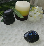 Spa Towel massage Oil gemstone wand Relax Therapeutic Luxury Flower Healing Candle Labradorite