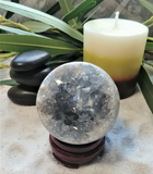 Spa Luxury Relax Reiki Energy Healing Meditation Natural Gemstone Mineral Gypsy Gems & Jewelry GGandJ.com Celestite Sphere Naturally Unique