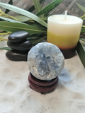Spa Reiki massage Oil gemstone wand Relax Therapeutic Luxury Flower Healing Candle Celestite Sphere