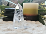 Spa Towel massage Oil gemstone Obelisk Relax Therapeutic Luxury Flower Healing Candle Clear Quartz