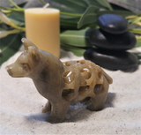 Gift idea for Dog lovers handcarved soapstone dog from india