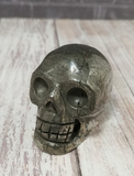 Pyrite Gemstone Skull on GGandJ.com Gypsy Gems and Jewelry Naturally Unique