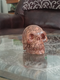 Home Decor Gemstone Mineral Naturally Unique Jasper Skull in Living Room on GGandJ.com