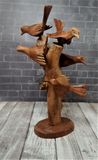 Hand carved Indonesian wood bird art