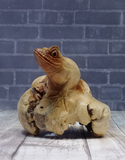 Handcarved Wood frog on GGandJ.com Gypsy Gems & Jewelry