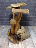Indonesian Wood art Mushroom Statue gypsy gems & jewelry naturally unique
