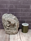 Prehnite with Epidote with thread spool size reference