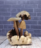 Mushroom fairy gnome garden Hand crafted wood gift idea