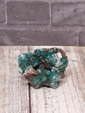Teal Epidote on Baryte Mineral Unique gift idea