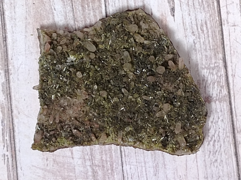 Epidote on Quartz from Morocco on GGandJ.com Gypsy Gems & Jewelry Naturally Unique