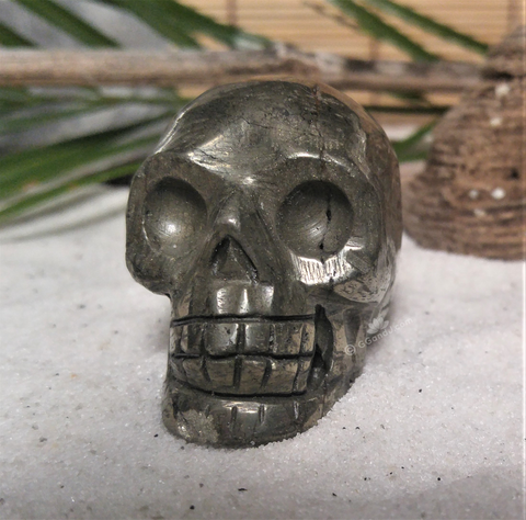 Aquarium Fish Decor ggandj.com  Biker Skull