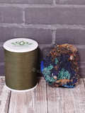 Malachite with Azurite by thread spool size reference