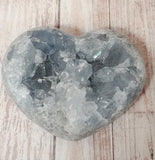 Natural Blue Celestite Carved Heart Valentines Day Gift