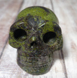 Kambaba Jasper Gemstone Skull from Gypsy Gems & Jewelry