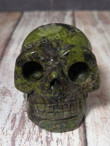 "Gypsy Gems & Jewelry™ Naturally Unique™ Kambaba Jasper Skull 2"" GGandJ.com"