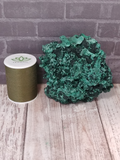 Malachite with thread spool size reference