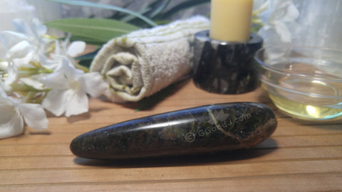 Spa Towel massage Oil gemstone wand Relax Therapeutic Luxury Flower Healing Candle Moonstone