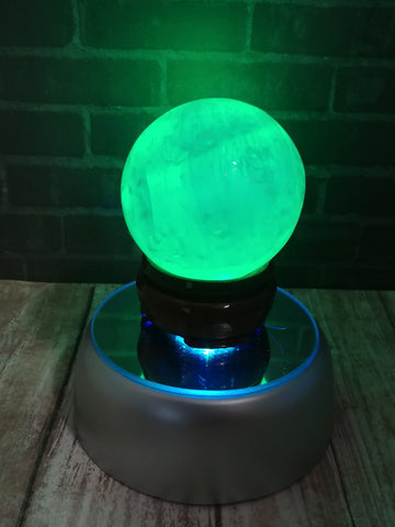 Green Selenite Sphere