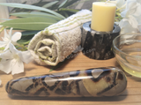 Spa Towel massage Oil gemstone wand Relax Therapeutic Luxury Flower Healing Candle septarian